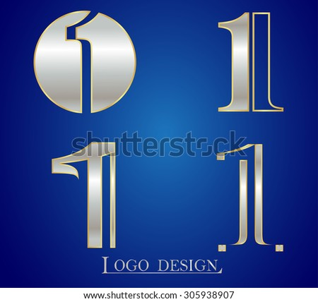 Number one logo.Number 1 logo design.Vector template. - stock vector