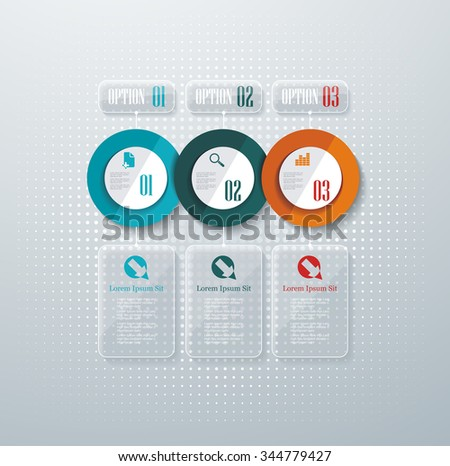 Number option banners design template. Can be used for infographics,workflow layout, diagram, number options, step up options, web template. - stock vector