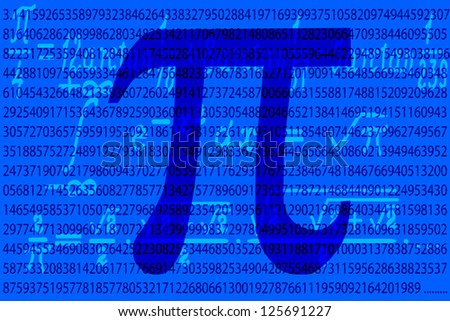 Number Pi first thousand value and formulas - stock vector