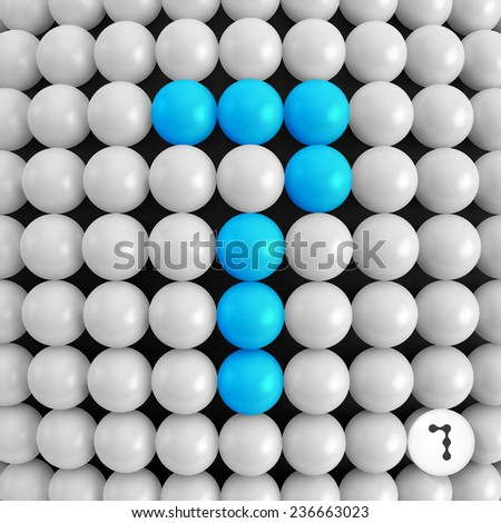 Number seven. Abstract mathematics background. 3d vector illustration.  - stock vector