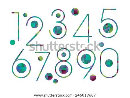 number vector design symbol numeral school sign - stock vector