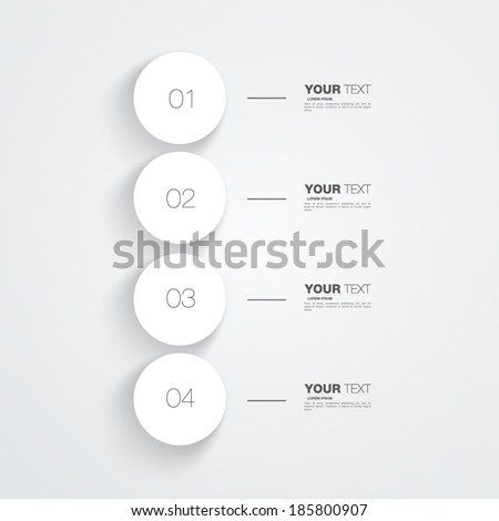 Numbered circles infographic design with your text and light background Eps 10 vector illustration - stock vector