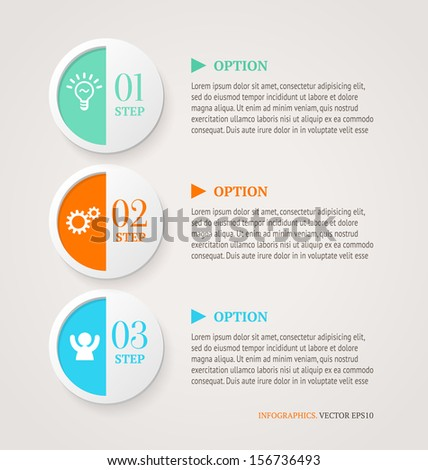 Numbered circles. Infographic options banners template. Retro style. - stock vector