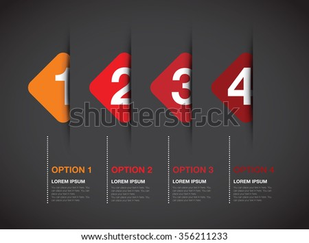 numbered option background - stock vector