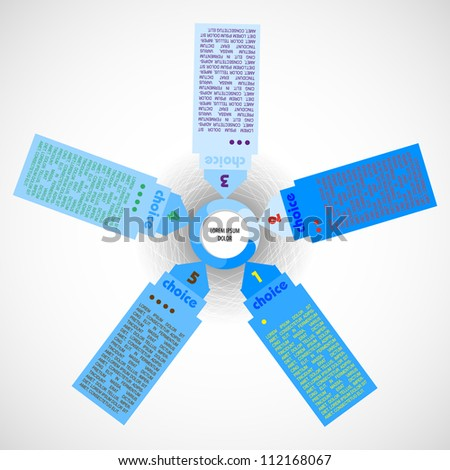 Numbering vector banner information. Product choice or versions - stock vector