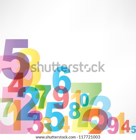Numbers Background - stock vector