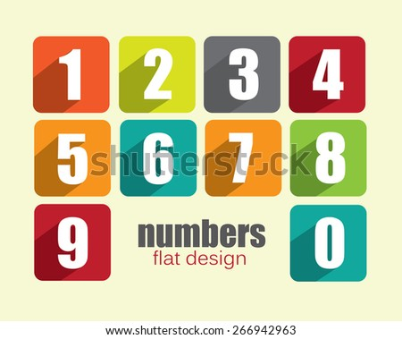 Numbers - colorful modern flat design and vector illustration - stock vector
