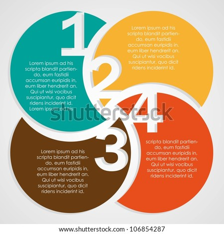 numbers colors background - stock vector