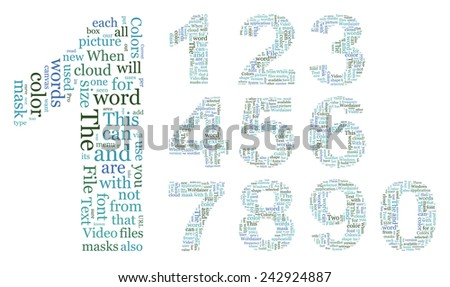 Numbers consisting of the grouped text. EPS-10 - stock vector