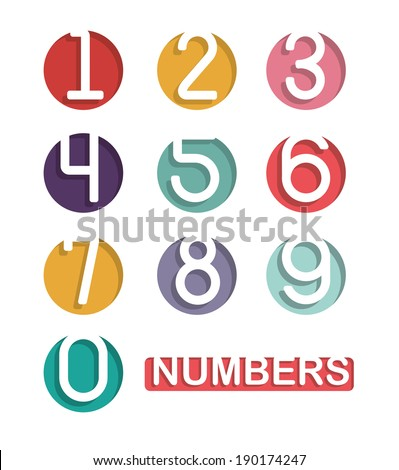 Numbers design over white background, vector illustration - stock vector