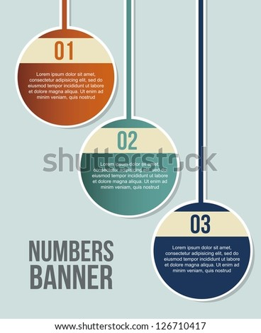numbers labels over blue background. vector illustration - stock vector