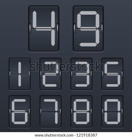 Numbers set. Vector. - stock vector