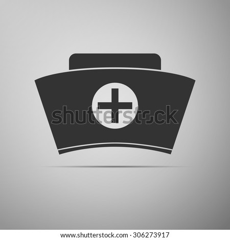 Nurse hat icon. Vector illustration. - stock vector