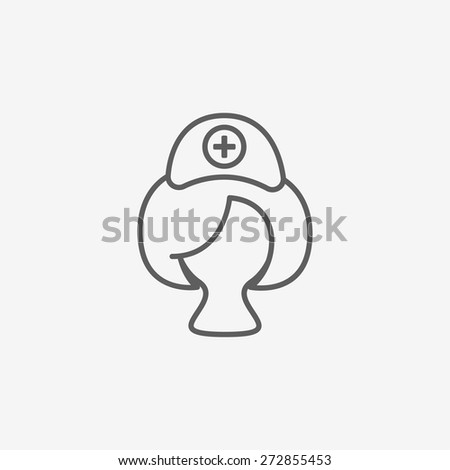 Nurse icon - stock vector