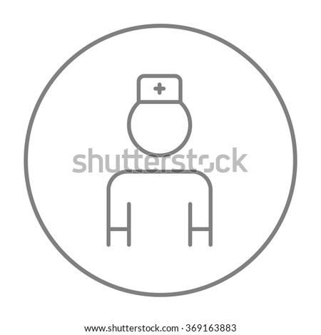Nurse line icon. - stock vector
