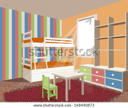 nursery room - stock vector