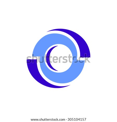 O letter logo design.  - stock vector