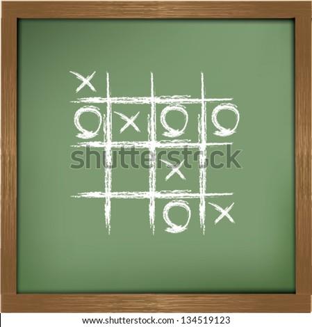 O,X game sign,Vector - stock vector
