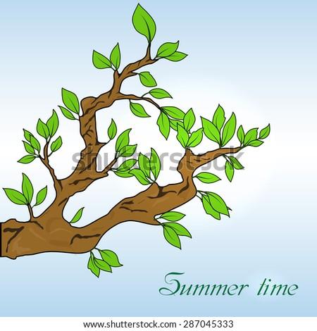 Oak leaves banner - stock vector