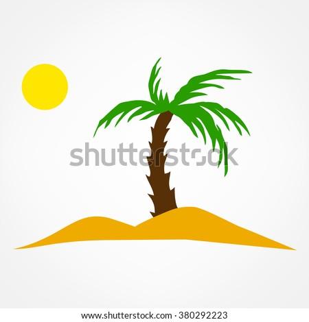 oasis symbol vector illustration. travel icon. - stock vector
