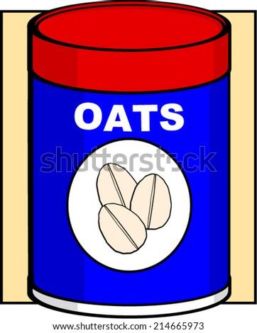 oats bottle - stock vector