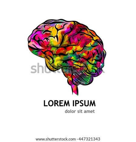 object brain. Vector - stock vector