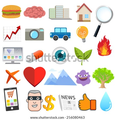 Object Design collection  - stock vector