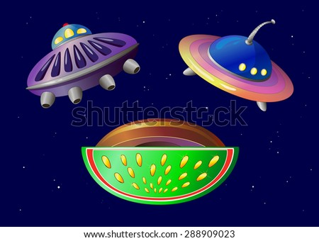 objects. space plates.cosmos.vector - stock vector