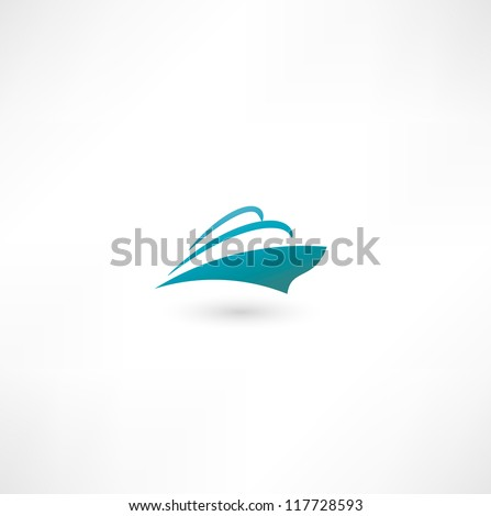 Ocean Liner. Cruise Ship - stock vector
