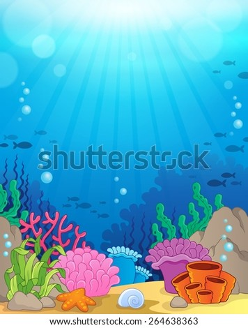 Ocean underwater theme background 3 - eps10 vector illustration. - stock vector