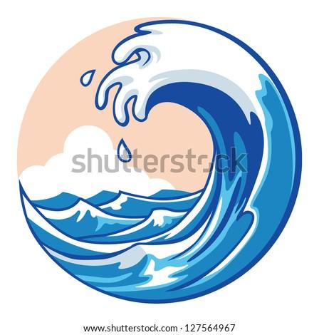 ocean wave - stock vector