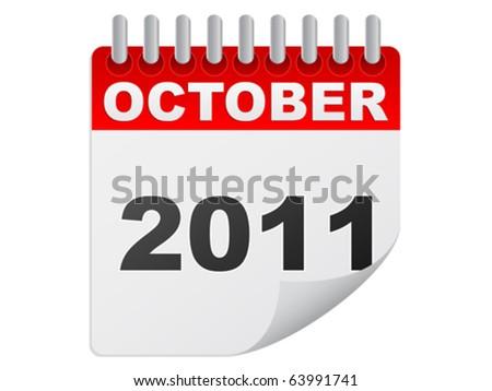 october 2011 - stock vector