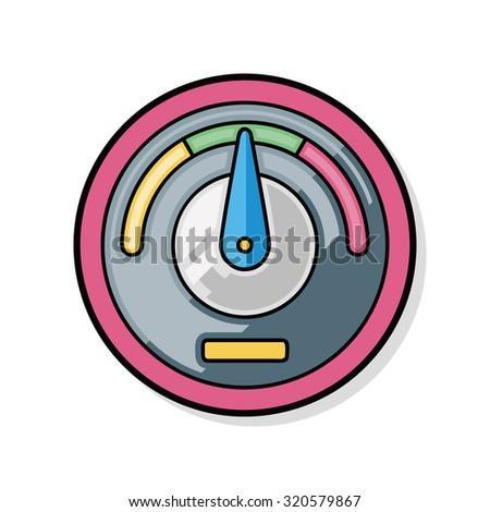 Odometer doodle - stock vector