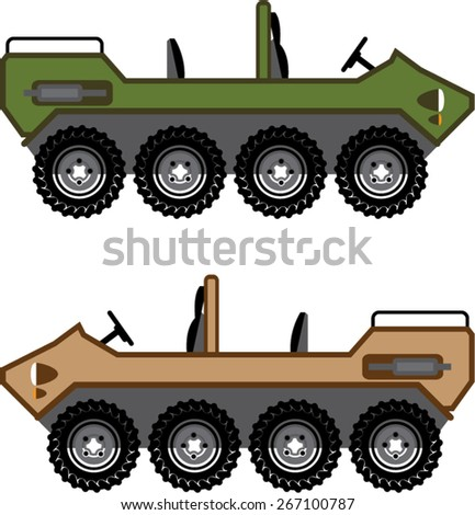 Off road Vehicle Utility - stock vector