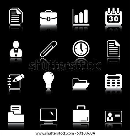Office and business - professional icons for your website, application, or presentation - stock vector