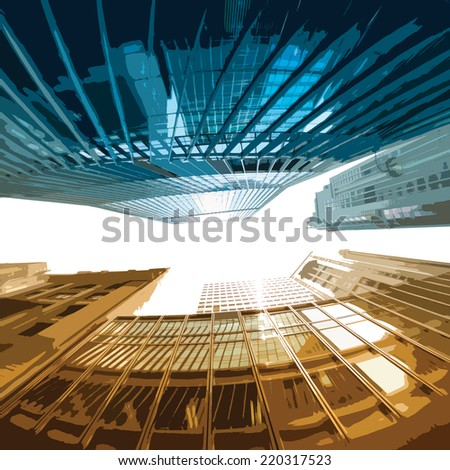 Office and Condominium buildings : eps.10  - stock vector