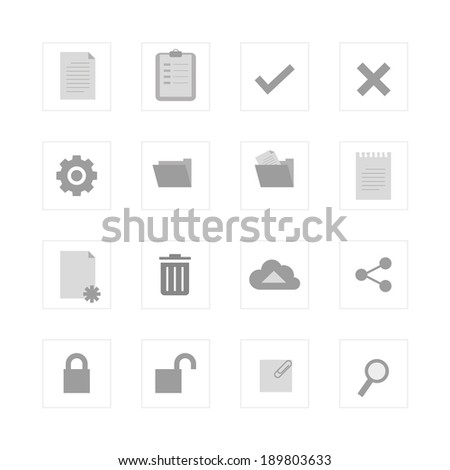 Office and Document icon set. Designed for illustration, infographics, web icon, report, presentation, template and more in your business - stock vector