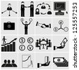 Office and people icon set.Vector illustration. - stock vector