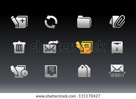 Office App Icons - stock vector