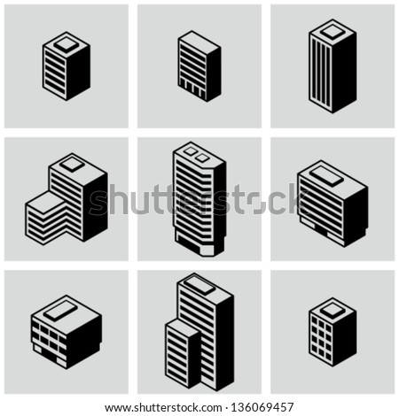 Office buildings - stock vector