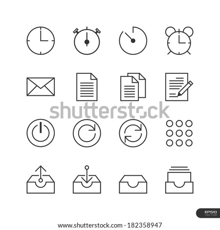Office & Business Icons set - Vector illustration - stock vector