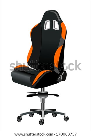 office chair - stock vector