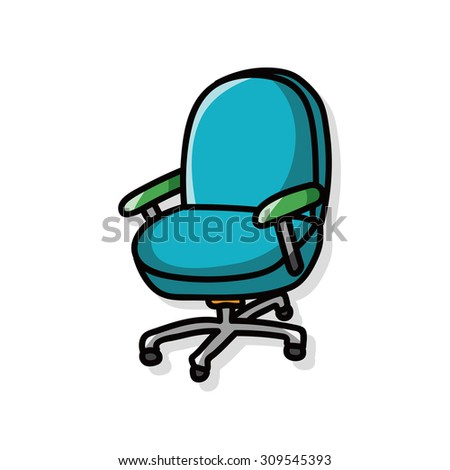 office chair doodle - stock vector