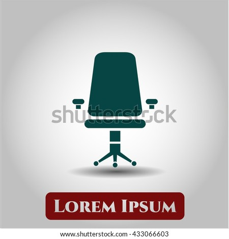 Office Chair icon, Office Chair icon vector, Office Chair icon symbol, Office Chair flat icon, Office Chair icon eps, Office Chair icon jpg, Office Chair icon app, Office Chair web icon - stock vector