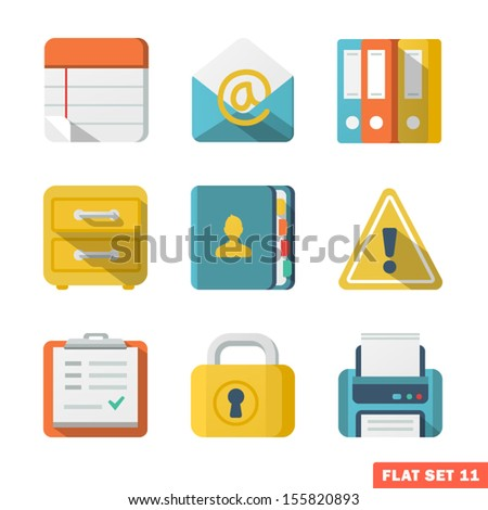Office Flat icons - stock vector