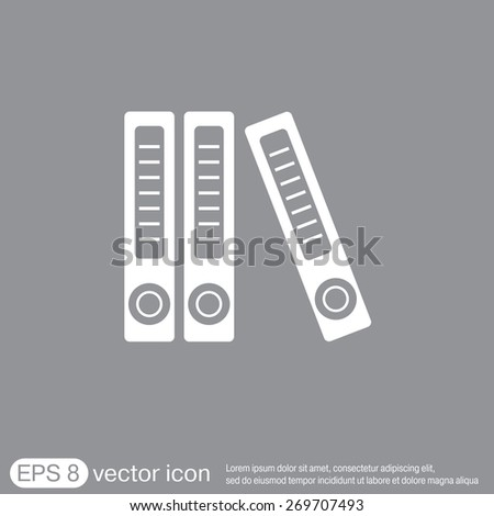 office folders with papers and documents, Archives folder icon - stock vector