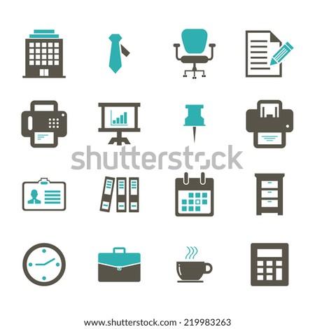 Office Icon - stock vector