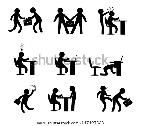 Office life - stock vector