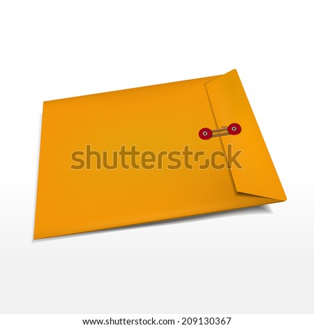 office manila envelope isolated over white background - stock vector
