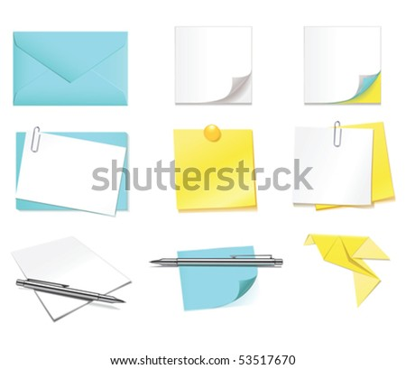 Office papers - stock vector